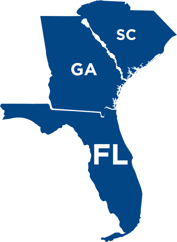 Florida, Georgia, South Carolina